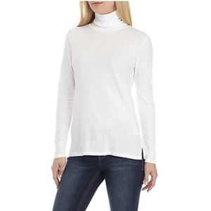 Crown & Ivy   White Turtle Neck Tee NWT large